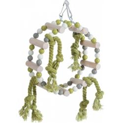игрушка для птиц  дерево + хлопковые веревки