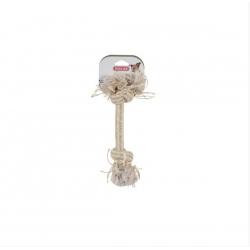 Игрушка веревка натуральная  2 узла  25 см